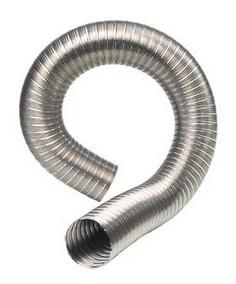 Воздуховод гофрированный нерж Ф 110 1м